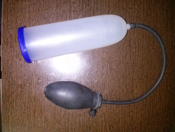 Homemade Water Penis Pump